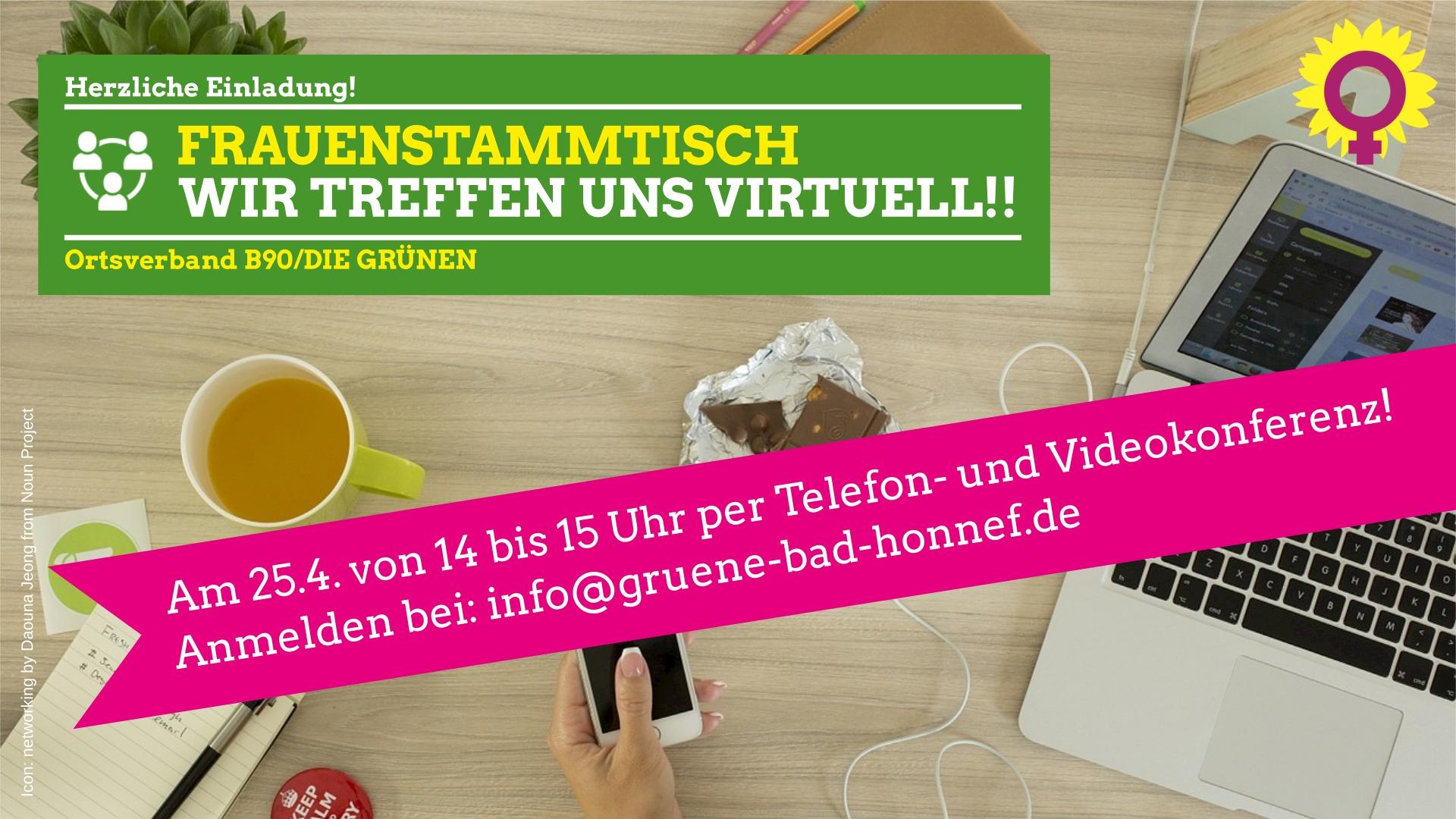 GRÜNER FRAUENSTAMMTISCH trifft sich virtuell / 25.04. , 14 – 15 Uhr
