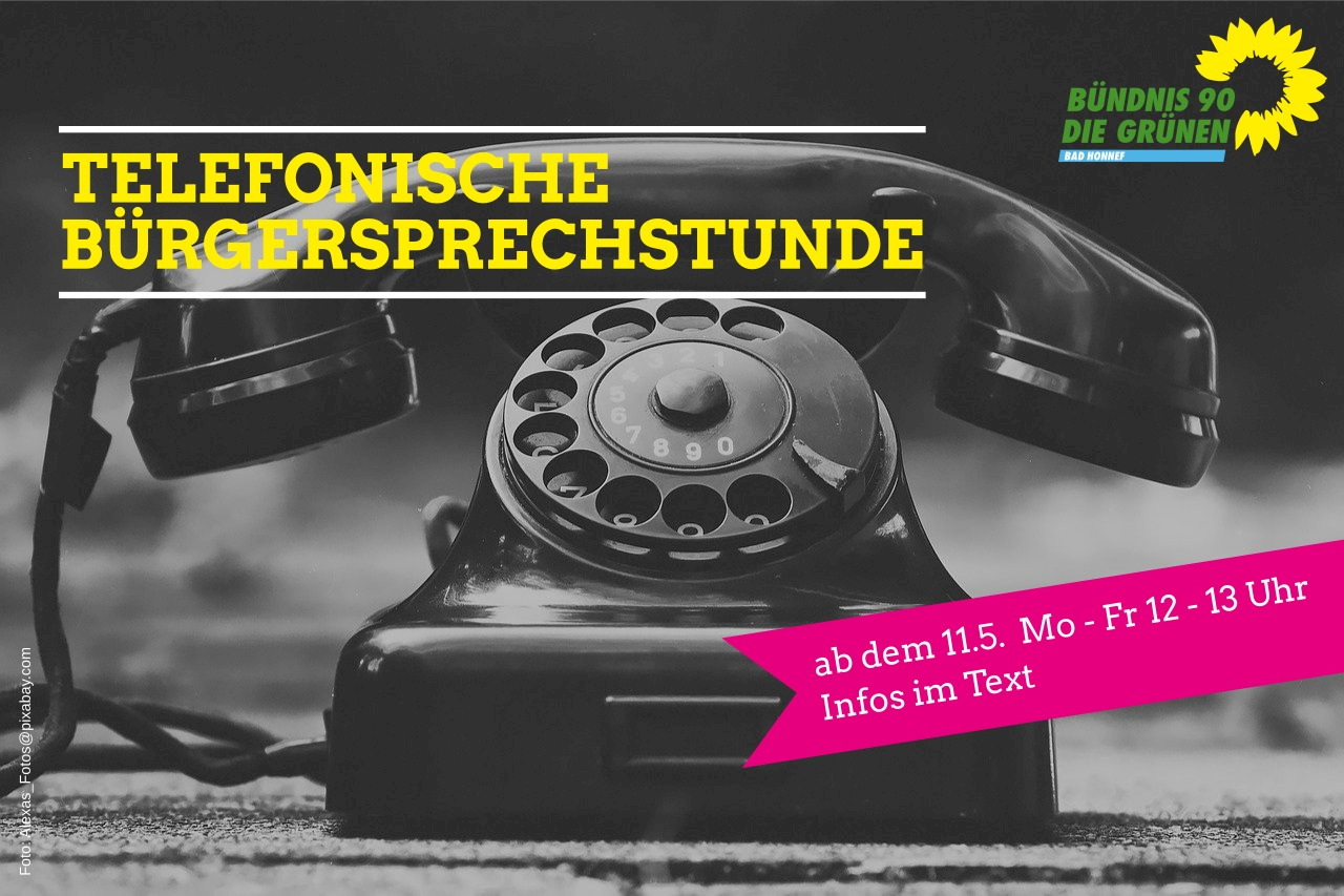 Telefonische Bürgersprechstunde der Grünen Bad Honnef