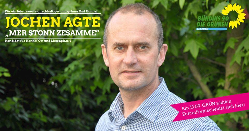 Jochen Agte, Kandidat für Honnef Ost und Listenplatz 4