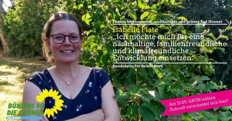 Isabelle Plate, Kandidatin für Selhof Nord und Listenplatz 15