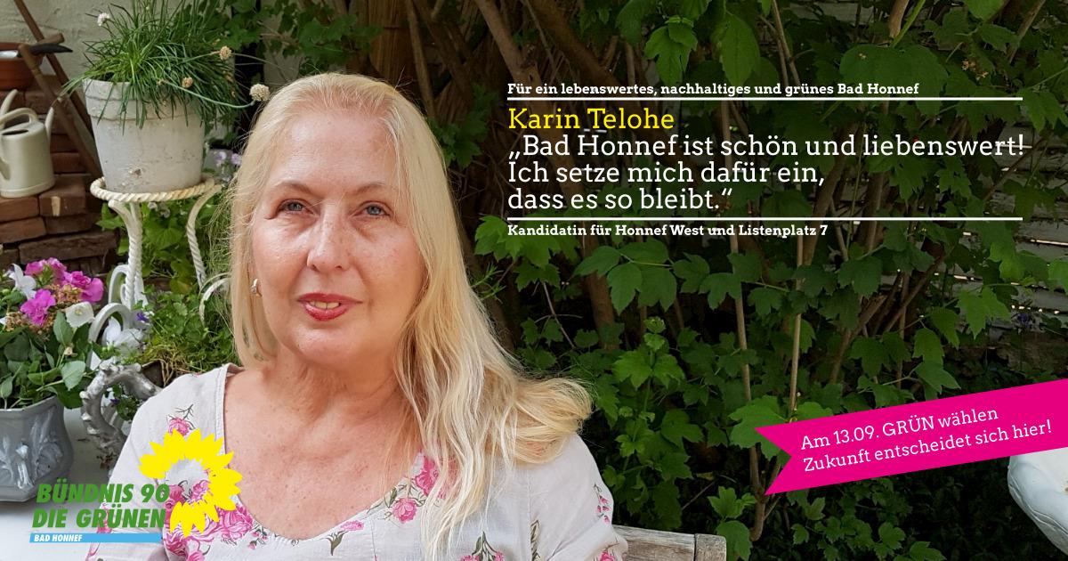 Karin Telohe, Kandidatin für Honnef West und Listenplatz 7