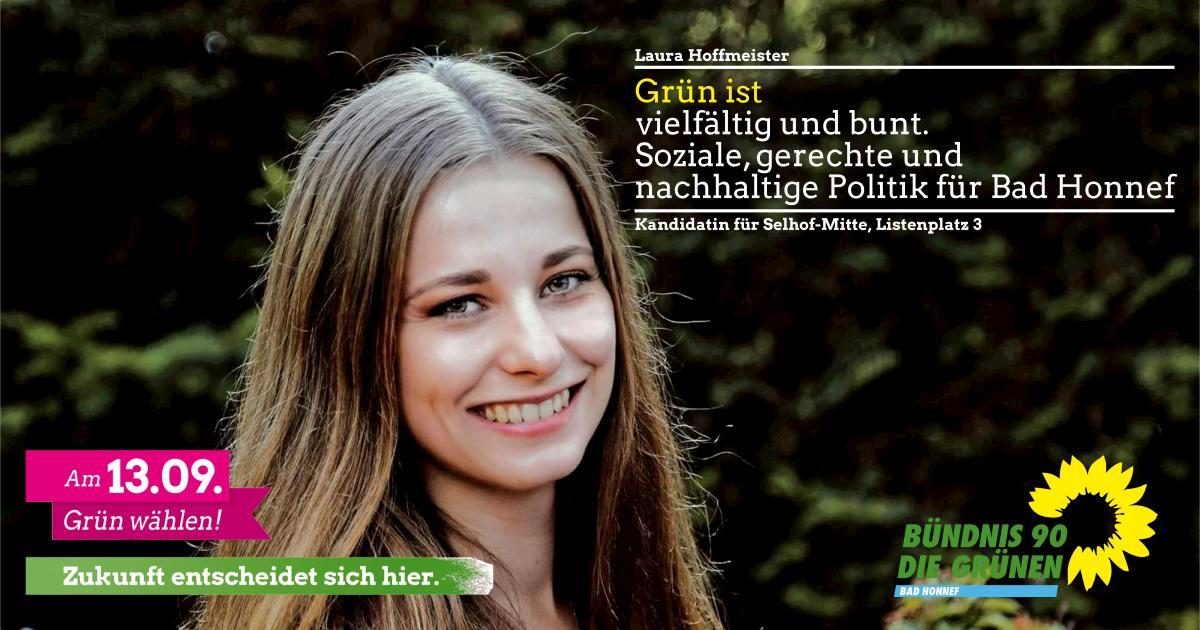 Laura Hoffmeister, Kandidatin für Selhof-Mitte und Listenplatz 3 🌻