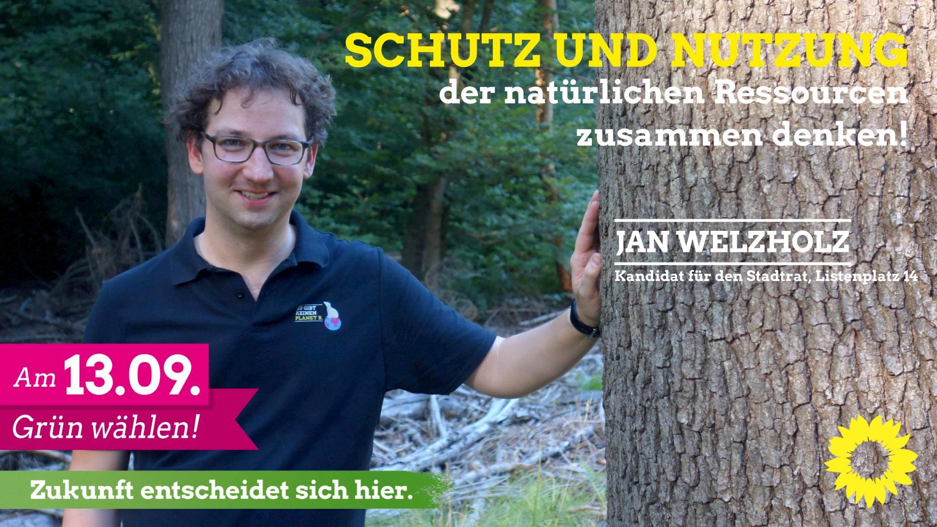 Jan Carl Welzholz – unser Kandidat auf Listenplatz 14 🌻