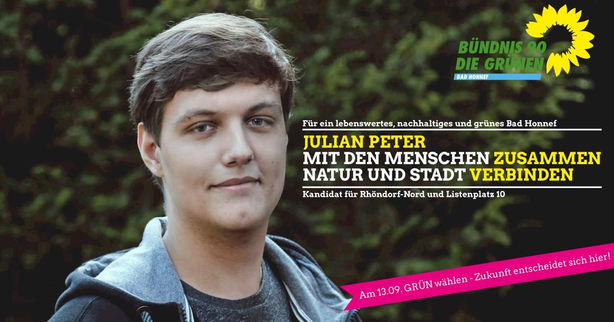 Julian Peter, Kandidat für Rhöndorf-Nord und Platz 10 auf der Liste